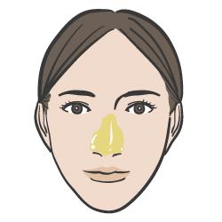 オリーブオイルを角栓が気になる鼻に塗る