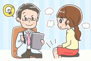 膝の黒ずみ改善を提案する医師