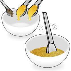 黒糖×ハチミツを作る手順①