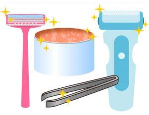③ムダ毛処理の道具は清潔にする
