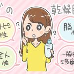 肌質ごとのスキンケア対策方法に悩む女性のイラスト
