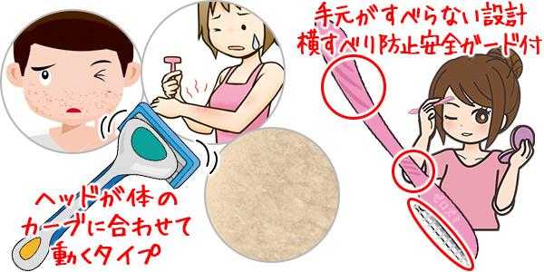 肌荒れしやすい肌・乾燥肌・敏感肌におすすめのカミソリ