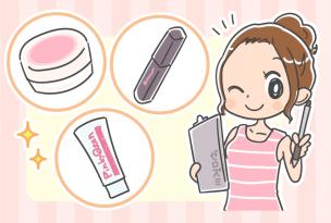 ちくびをピンクにするアイテムを紹介する女性